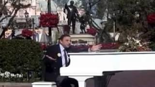 2001 Disneyland Walt Disney's 100th Birthday.  Richard Sherman sings Feed the Birds at the hub