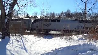 California Zephyr on Cold New Year's Eve