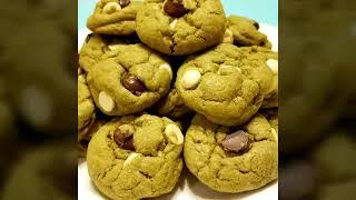 วิธีทำคุกกี้ชาเขียวชอ็คโกแลตชิพ ง่ายมาก How To Make Chocolate Chips Mucha Green Tea Cookies