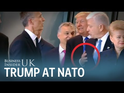 Watch Trump shove the prime minister of Montenegro out of the way