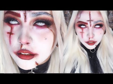 Maquillaje De Diabla Maquillaje De Halloween Gladys смотреть