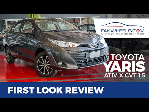 Toyota Yaris 2020 1.5 ATIV X CVT-i | First Look Review | PakWheels