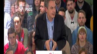 Rodríguez Zapatero, la ley de la dependencia da tranquilidad a las familias