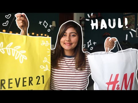 HUGE TRY-ON HAUL! | Forever 21 and H&M Shopping Haul | Kritika Goel