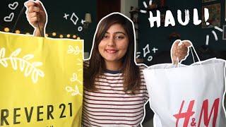 HUGE TRY-ON HAUL! | Forever 21 and H&M Shopping Haul | Kritika Goel