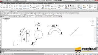 فرمان Diameter برای اندازهگذاری و اندازه گیری قطر یک دایره یا کمان اتوکد دوبعدی 2016