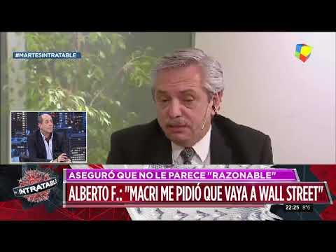 """Alberto Fernández: """"Macri me pidió que vaya a Wall Street"""""""
