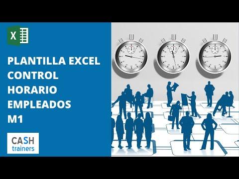 Registro horas jornada laboral y control asistencia con Excel