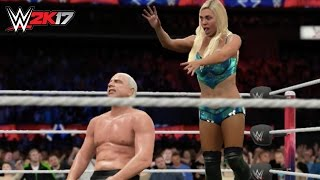 WWE 2K17 Simulation: Ric Flair vs Charlotte (Match Highlights)