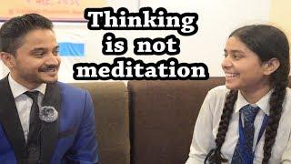 Thinking is not meditation ll Memory King Arpan Sharma