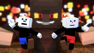 """""""The Devil's Due"""" Cuphead Minecraft Music Video 
