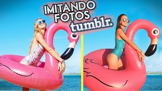IMITANDO FOTOS TUMBLR NA PISCINA!