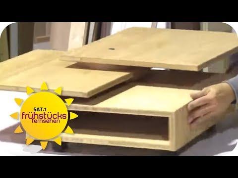 DIY statt DESIGNERSTÜCK –COUCHTISCH BAUEN – So einfach geht's | SAT.1 Frühstücksfernsehen | TV