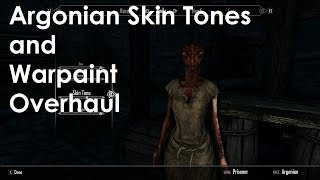 Skyrim Special Edition Mod Review Argonian Skin Tones and Warpaint Overhaul