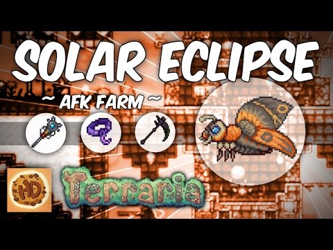 Steam Community Video Terraria Afk Solar Eclipse Farm Simply get 8 of them and you can craft yourself a solar tablet and spawn the eclipse anywhere! terraria afk solar eclipse farm