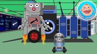 Сборник мультиков про веселого робота который ремонтирует машинки