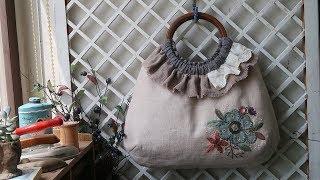 퀼트 린넨가방 만들기 │ How To Make A Quilt Linen Bag │ DIY Craft Tutorial