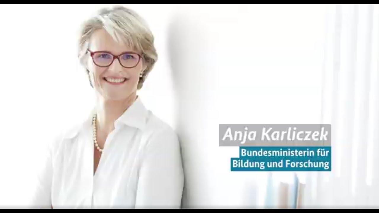 Grußwort von Anja Karliczek zum Deutschlandstipendium