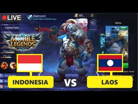 🔴LIVE : INDONESIA Vs LAOS Mobile Legends (National Arena Contest)