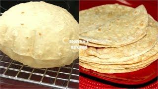 Homemade Soft Fluffy Roti / Chapati / Phulka Video Recipe | Bhavna's Kitchen
