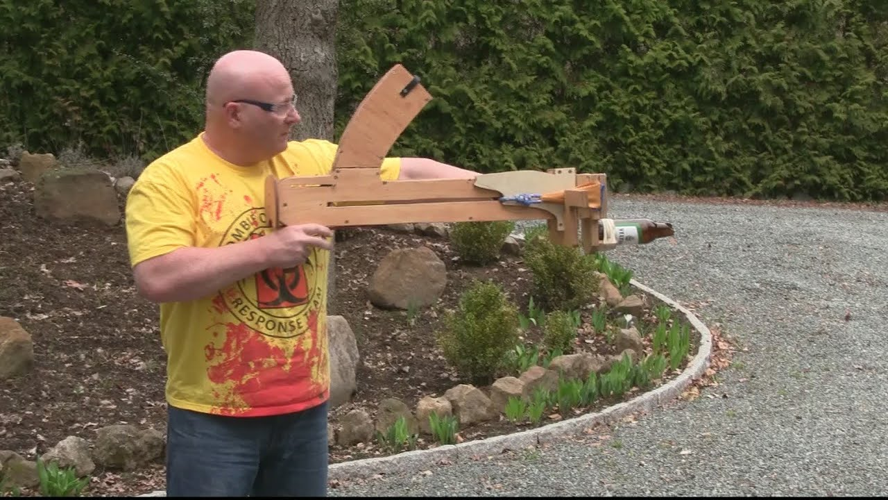 The Bar Fight Dominator Is A Slingshot That Shoots Glass Ashtrays