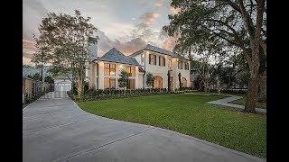 Elegant French Country Mansion In Houstons Desirable Tanglewood