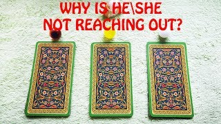 WHY IS HESHE NOT REACHING OUT? PICK A CARD. TIMELESS