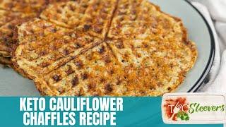 Keto Cauliflower Chaffles   Keto Waffles Recipe
