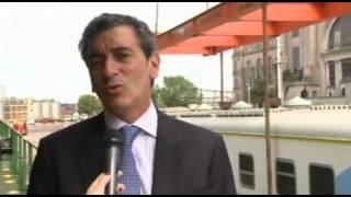 preview picture of video '20 de ENE. Florencio Randazzo recibió nuevos trenes que llegaron al puerto de Buenos Aires'