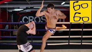 """Как бить локтями в муай тай? Удары локтями в тайском боксе и """"локоть Супермена"""" от Виталия Дунца"""