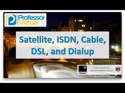 Satellite, ISDN, Cable, DSL, and dialup networks - CompTIA Network+ N10-006 - 1.4