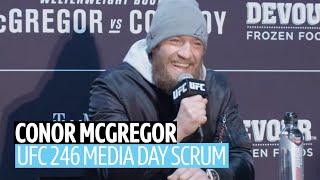 """I have Ferguson and Khabib in my crosshairs!"" Conor McGregor UFC 246 media day scrum"