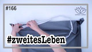 Upcycling | alte Matratze beziehen für eine Gartenbank - mit Anna von einfach nähen