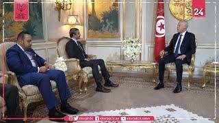 عبد الله بن زايد ورئيس تونس يبحثان تعزيز العلاقات
