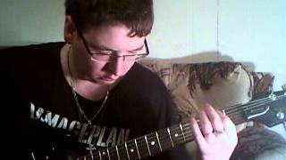 me pplaying some of the riffs  in 'crucified' by drain s.t.h