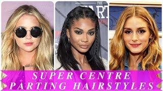 Super Centre Parting Hairstyles