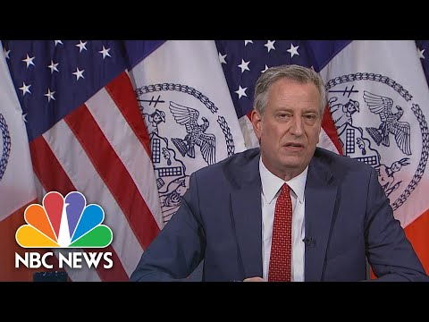De Blasio: 'Any Officers Who Are Under Investigation Will Not Be Present During Protests' | NBC News