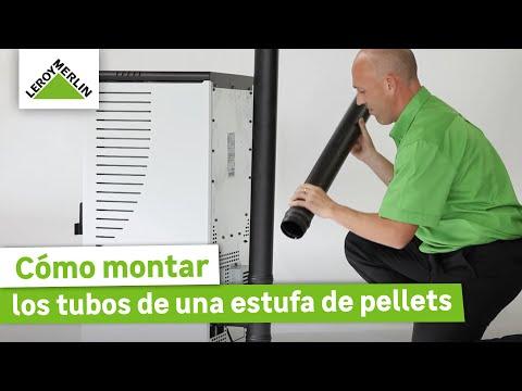 Montaje de los tubos de una estufa de pellets (Leroy Merlin)