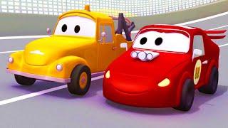 Odtahové auto pro děti - Červené závodní auto - Jerry Odtahové auto