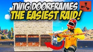 RICH BASE OWNER forgets to UPGRADE HIS DOOR FRAMES! - Rust Solo
