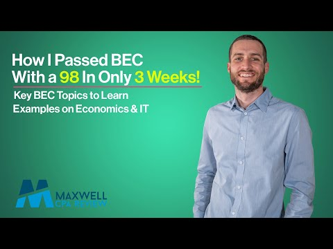 How I Scored a 98 on the BEC Exam in THREE WEEKS | CPA Study ...