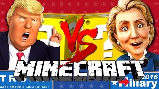 Minecraft | TRUMP VS CLINTON LUCKY BLOCK CHALLENGE | BUILD A WALL!!