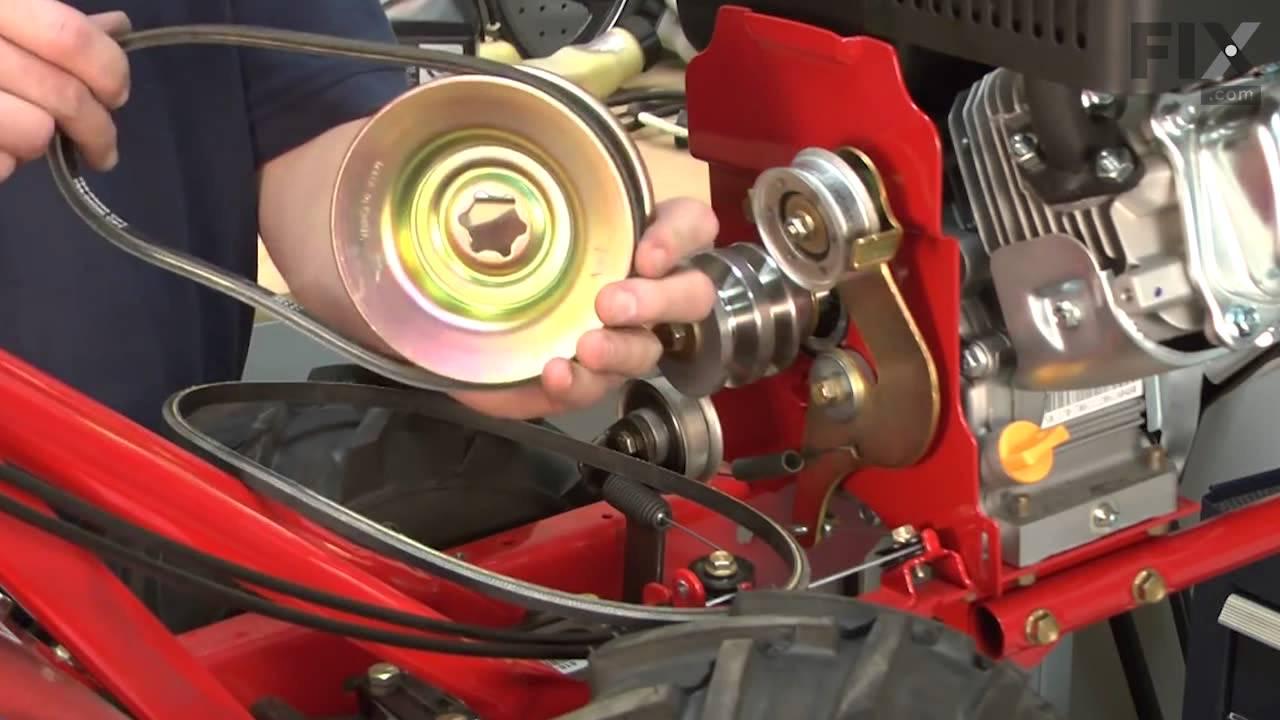 Replacing your Troy-Bilt Tiller Belt-Forward Drive