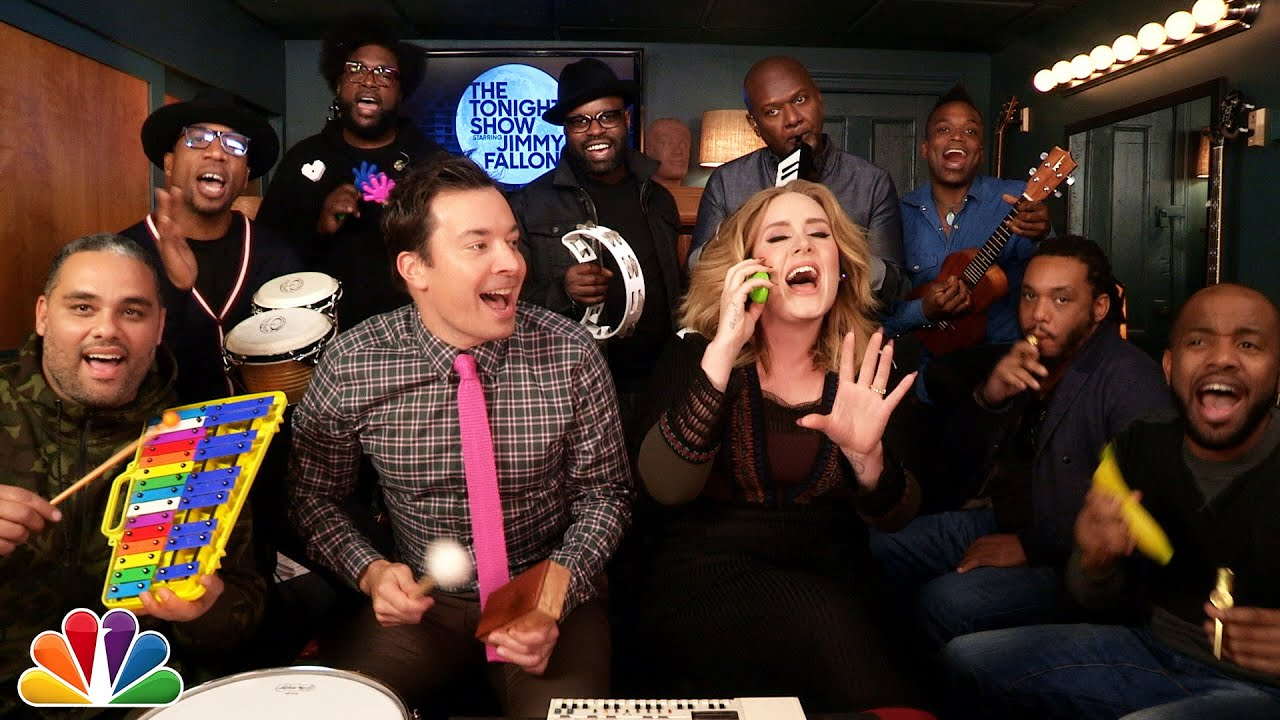 "Jimmy Fallon, Adele & The Roots Sing ""Hello"" (w/Classroom Instruments) thumbnail"