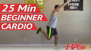 25 Min Beginner Cardio Workout at Home - Low Impact Cardio Exercises - Easy Aerobic Workouts by HASfit