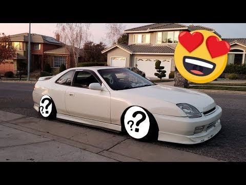 New Wheels On My Honda Prelude!!