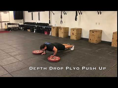 Depth Drop Plyo Push Up