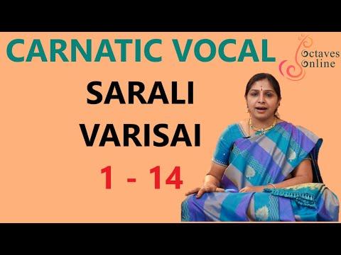 Sarali Varisai : 1 - 14 (All three speeds)