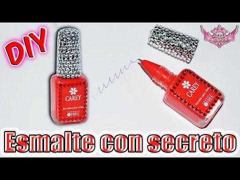 ♥ Tutorial: Esmalte ó Pintauñas con Secreto || Bolígrafo [Muy Fácil] ♥