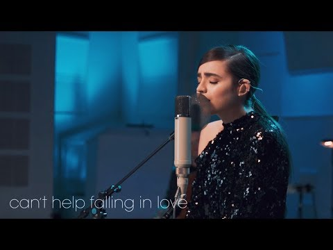 """Pop playing example.  Song is """"Can't Help Falling In Love"""" by Elvis Presley with Sofia Carson, @ East West Studio."""
